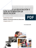 RETOS DE LA EDUCACIÓN Y LOS ACTORES