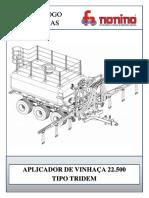 53009 - CATÁLOGO - APLICADOR DE VINHAÇA 22.500 - BITOLA DE 3000MM TIPO TRIDEM_REV10