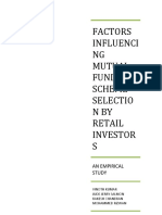 Factors Influencing Mutual Fund Scheme Selection by Retail Investors