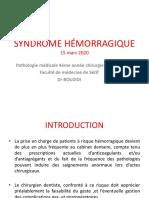 syndrome hémorragique.bouzidi