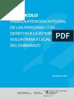 Protocolo para la atención integral de las personas con derecho a la interrupción voluntaria y legal del embarazo