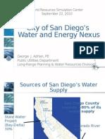 San Diego Water Energy Nexus Shortened Version