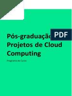 Programa de curso Pós-graduação em Projetos de Cloud Computing