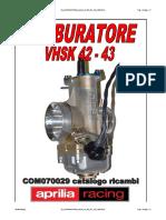 Cp Carburatore Vhsk42 43 Rs Gp 125 100310