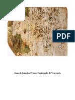 Juan de Lakotsa Primer Cartografo de Venezuela