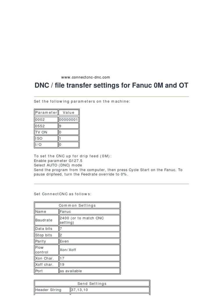 DNC for Fanuc 0M y 0T | Computer Engineering | Computer Architecture
