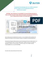Anleitung für die rechnergestützte Grundkonfiguration der ALFEN Ladestation V1.3