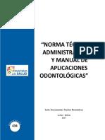 Norma Tecnica Programa Nacional en Salud Oral 2018