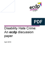 Disability Hate Crime - An ecdp Discussion Paper