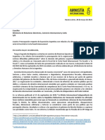 Amnistía Internacional expresa preocupación por la retirada argentina de la denuncia contra Venezuela ante la Corte Penal Internaciona