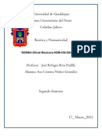 """NORMA Oficial Mexicana NOM-030-SSA2-1999"""