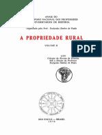 A Propriedade Rural, Volume II, organizado por Eurípedes Simões de Paula