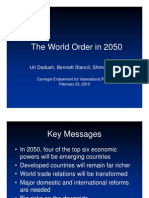 The World Order Carnegie Endowment - Slides - THE G-20 IN 2050
