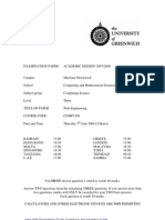 Sample of Web Engineering Exam (June 2008) - UK University BSc Final Year