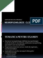 NEUROPSIHOLOGIE CLINICĂ - tematica