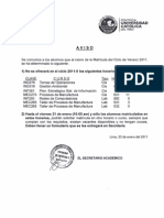 Aviso final Matricula 2011-0