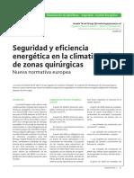 Seguridad y  Eficiencia Energética en la climatización de Quirófanos