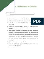 2 Examen de Fundamentos de Derecho Presencial
