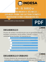 El Suelo y Los Instrumentos Técnico Legales Para Las Actuaciones e Intervenciones Urbanisticas.