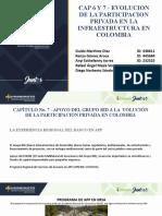 Exposición Cap 6 y 7 - EVOLUCION DE PA PARTICIPACION PRIVADA EN LA INFRAESTRUCTURA EN COLOMBIA
