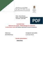 boukarkour hajar ; les facteurs favorisant le cancer de poumon (2)