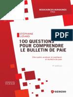 BUPA4 100 Questions Pour Comprendre Le Bulletin de Paie GERESO