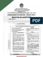 Auditor Fiscal de Receitas Estaduais Cbasicos 2013 Tipo 1