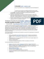 Les 4 P de la gestion de projet