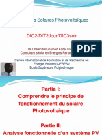 Solaire PV Historique Effet Photoelectrique Analyse Fonctionnelle Types Applications
