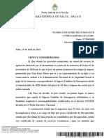 Jurisprudencia 2021 - Ife-flores, Fani en Rep de Su Hijo m p r c Anses s Amparo Ley16986