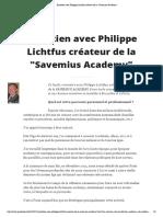 Entretien Avec Philippe Lichtfuf