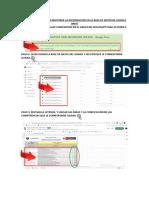 Procedimientos Para Registrar La Infromación en La Base de Datos de Google Drive
