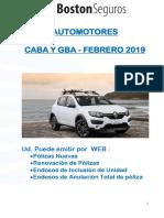 02.2019  AUTOMOTORES  Alcance de Productos - WEB