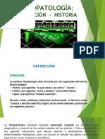 FITOPATOLOGIA  I-DEFINICION- HISTORIA-