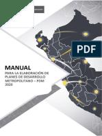 Manual Para La Elaboración de Planes de Desarrollo Metropolitano - PDM