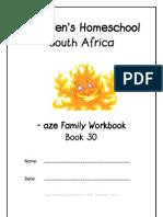 aze Family Workbook, Donnette E Davis, St Aiden's Homeschool, South Africa
