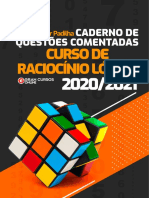 Caderno de Questoes Comentadas Do Curso de Raciocinio Logico 2020 2021