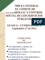 ASAMBLEA  GENERAL DE USUARIOS Y SUSCRIPTORES 2014