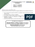 GUIAS INGLÉS CICLO 2 GRADO 4° FÍSICO