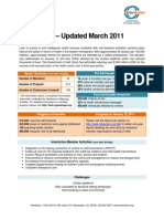 Health Sector Summary (Press Packet) March 2011Update