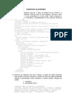 ALGORITMO - exercícios - 10-03-2011