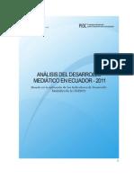 Análisis del Desarrollo Mediático en Ecuador 2011 UNESCO - Quito