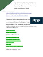 Dicionário para a prova teórica em português (doc do Word)