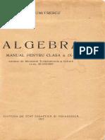 Algebra manual cls.9 - Gh. Dumitrescu (1957)