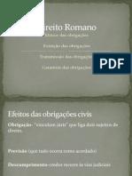 Direito Romano - Obrigações