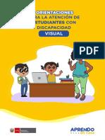 Orientaciones Para La Atención de Estudiantes Con Discapacidad Visual
