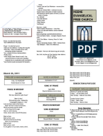 Church Bulletin - March 20th