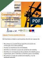 1.Os acidentes de trabalho Construção Civil