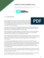 Liberación de patentes y acceso equitativo a las vacunas