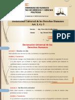 Declaracion Universal Derechos Humanos Art. 3, 4 y 5